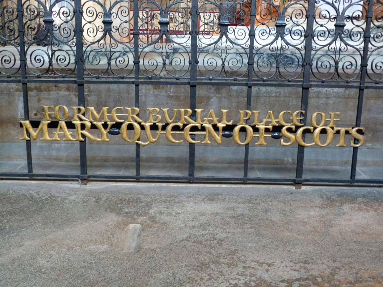 11.-Mary-Queen-of-Scots-burial-ground1 Peterborough Cathedral – around and within