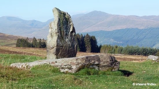 18.-A-stone-circle-above-Acharn-with-Ben-Lawers-Range-in-the-background-The-Rob-Roy-Way-Sept-2014
