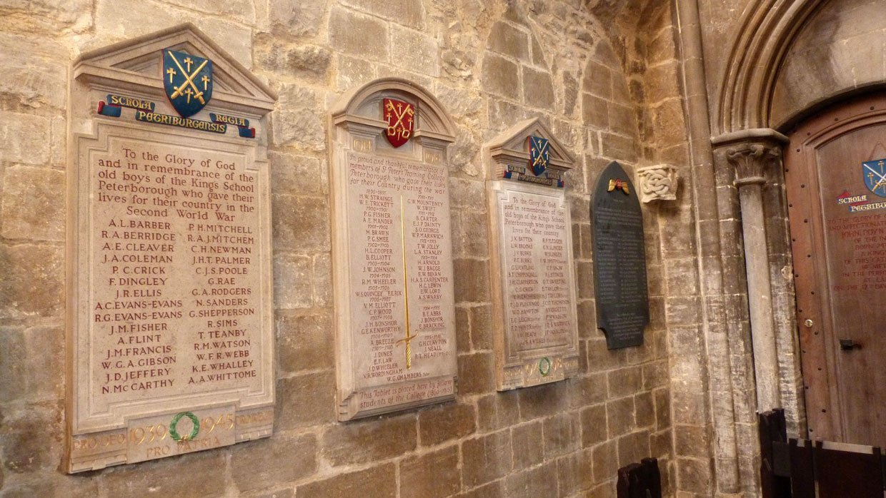 18.-Plaques-remembering-our-lost-troops1 Peterborough Cathedral – around and within