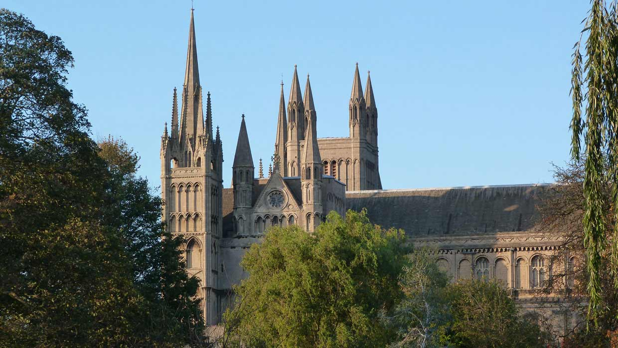 19.-From-a-distance1 Peterborough Cathedral – around and within