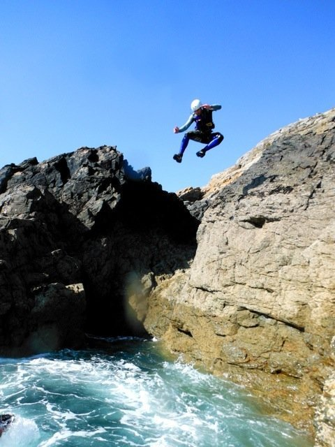 Great afternoon.. Sark… Coasteering.. Fun :D