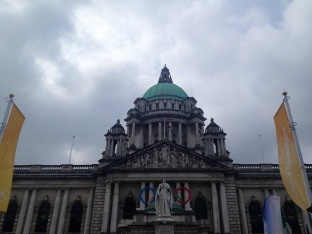 Good morning from Belfast City Hall :) #followthetorch