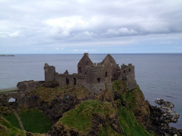 Dunluce Castle :) fresh breeze .. #followthetorch #northernireland