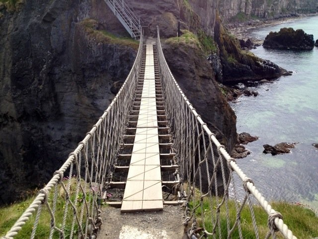 Hold on :) Time to cross Carrick-A-Rede Rope Bridge