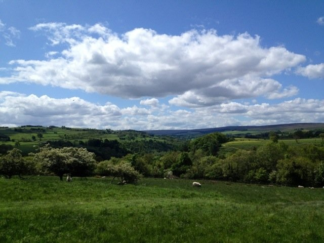 Good afternoon from near Hexham :) gorgeous drive views