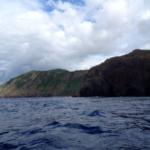 Hurtling round the coast of Sao Jorge :) #Azores
