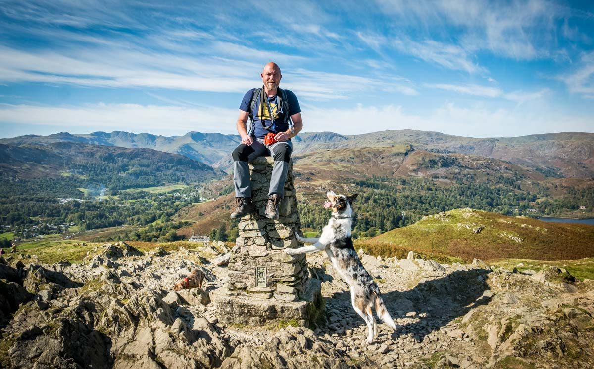 on top of loughrigg fell
