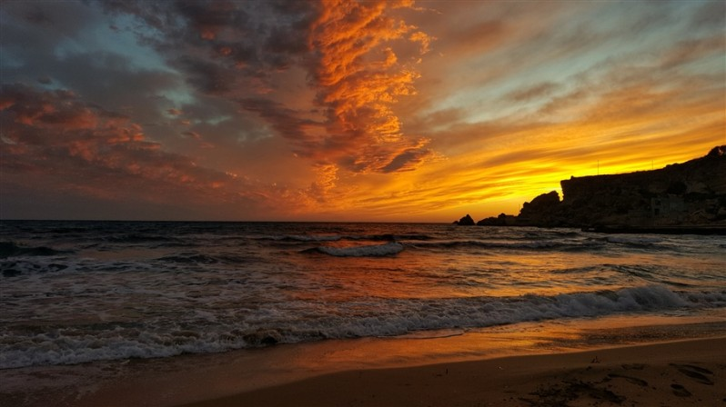 sunset at azure resort malta