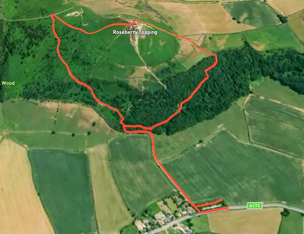 roseberry topping route map