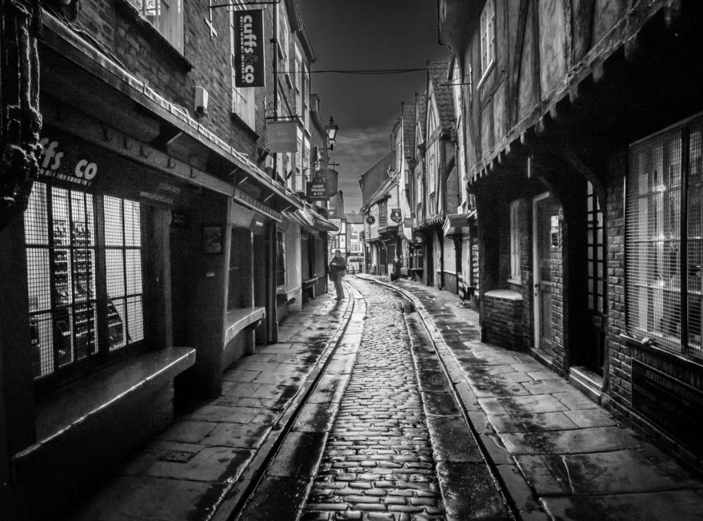 shambles in black and white