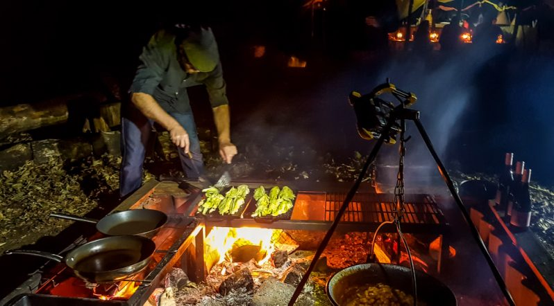 Fire and dine at this green moon