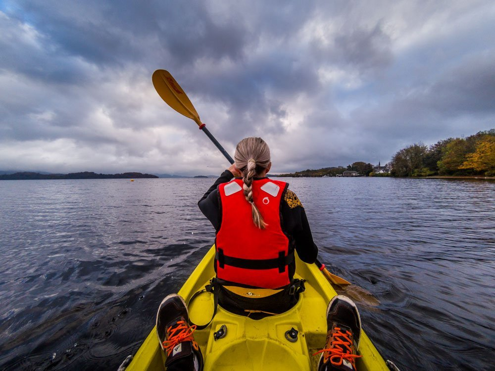 GOPR0774 Kayak On Loch Lomond To The Island Of Inchconnachan