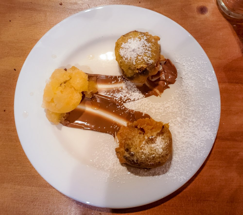 Deep Fried Millionaires Shortbread with Irn Bru Sorbet