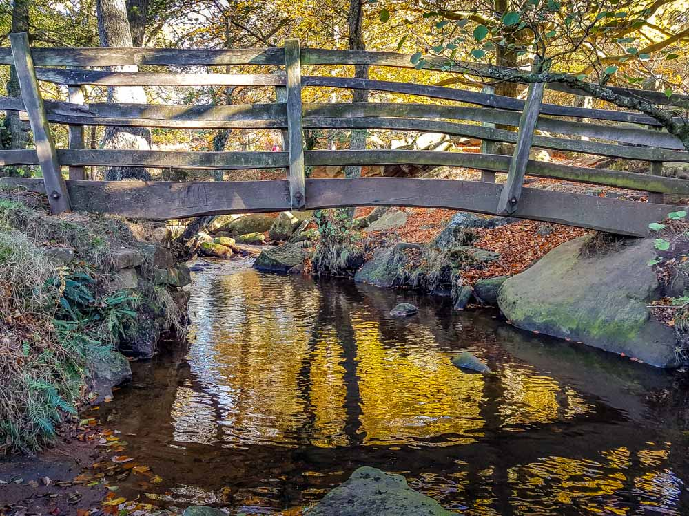 Wooden-bridge-over-Burbage-brook_ Walks Beside Burbage Brook and Padley Gorge - Peak District