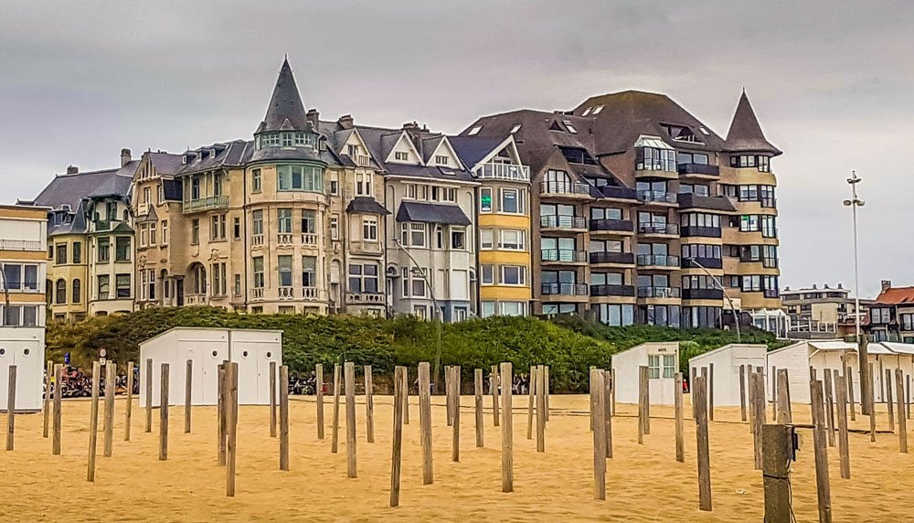Belgian-architecture-old-and-new Walking in Belgium – De Panne Beach Sunsets and Horses