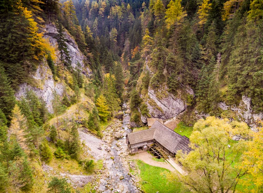 Walk The Kvačianska Valley to The Oblazy Mills, Slovakia