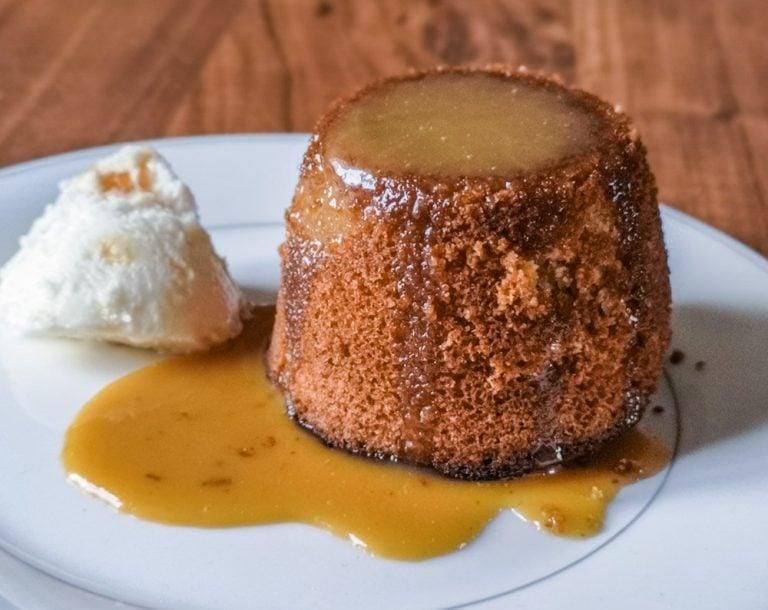 Butterscotch Puddings With Butterscotch Sauce