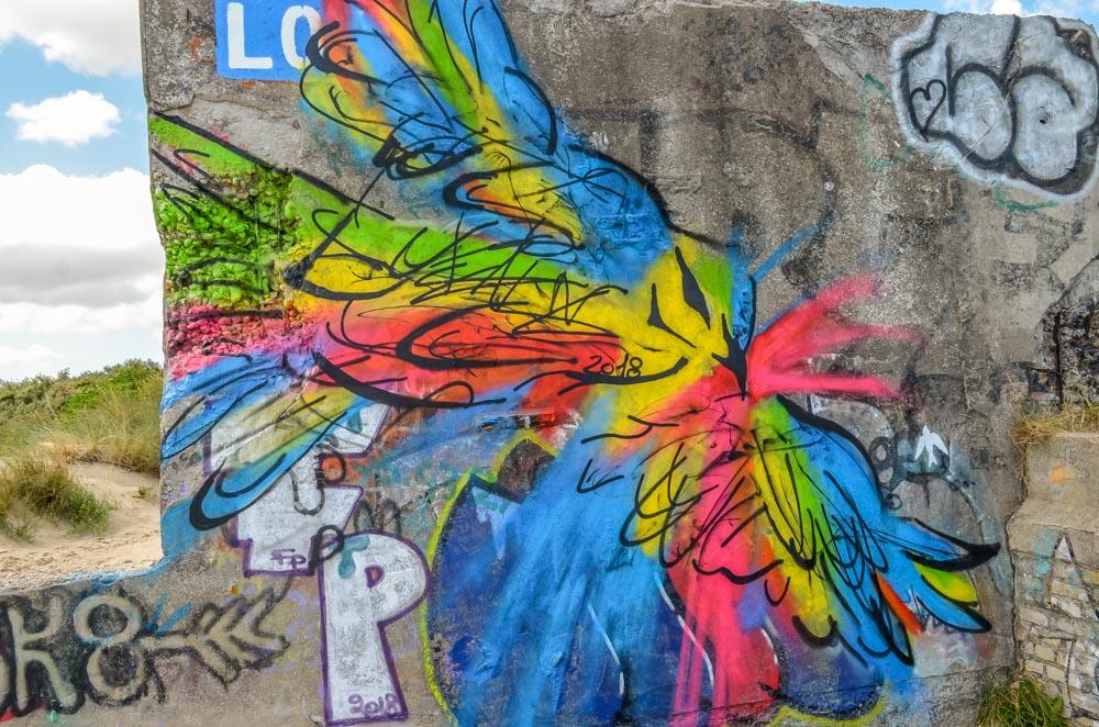 Blockhouses and Graffiti Art of Leffrinckoucke Beach 10
