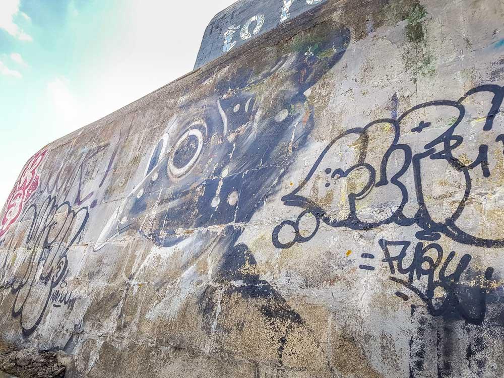 Blockhouses and Graffiti Art of Leffrinckoucke Beach 11