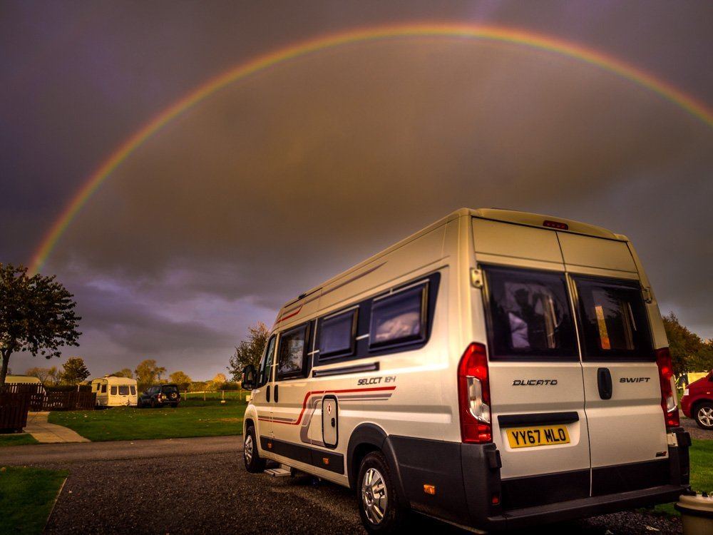PA300161 A Motorhome Stay At Slingsby Campsite