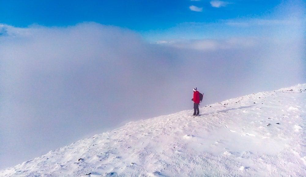 ingleborough climb in winter