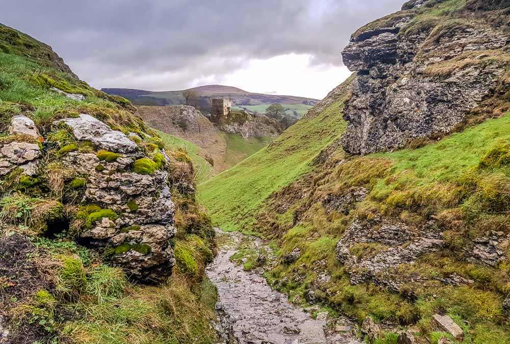 Top-view-through-cavedale Cave Dale Walk, Rugged and Scenic – Castleton, Peak District