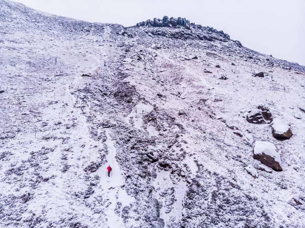 DJI_0053 A Winter Walk Above Dove Stone Reservoir, Saddleworth