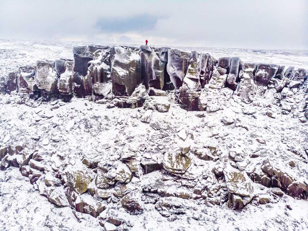 DJI_0072 A Winter Walk Above Dove Stone Reservoir, Saddleworth
