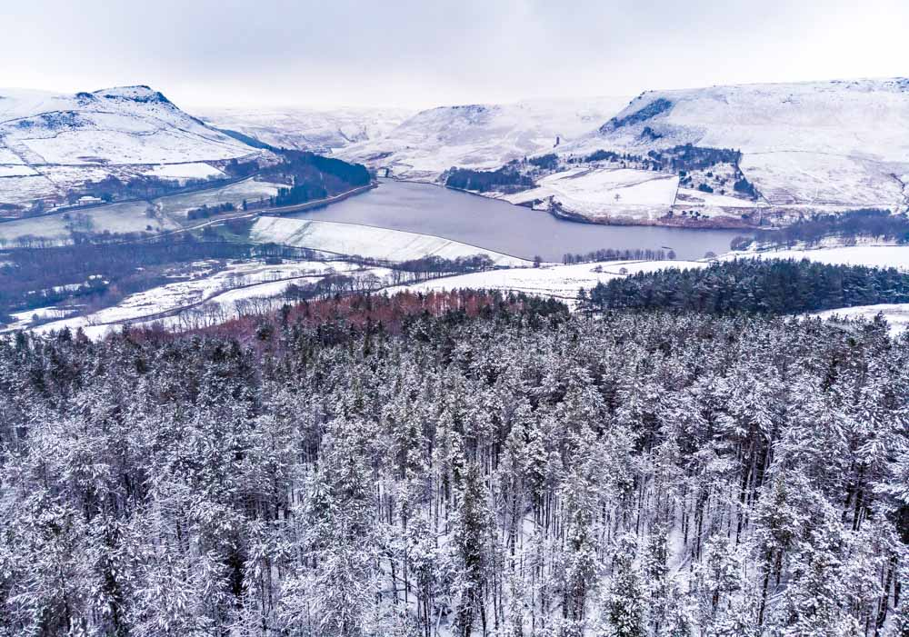 DJI_0088 A Winter Walk Above Dove Stone Reservoir, Saddleworth