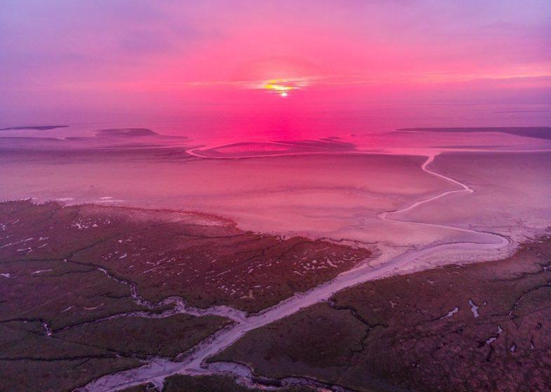 sunset morecambe bay