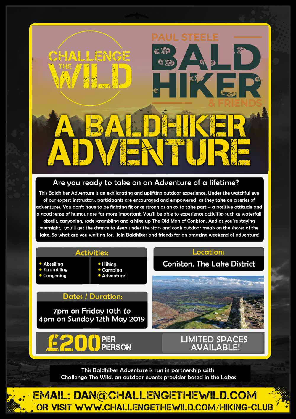Survive-The-Wild-New-Flyer-Bald-Hiker-1 Join Me On A BaldHiker Lake District Adventure