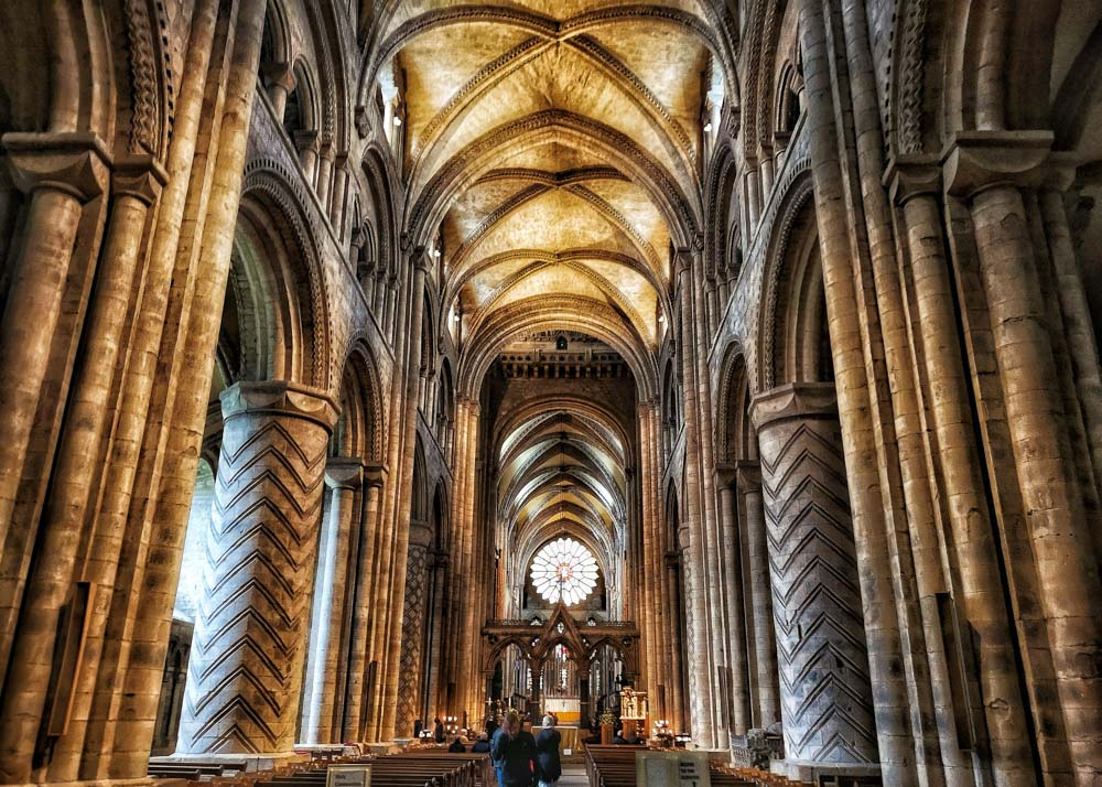 Inside Durham Cathedral