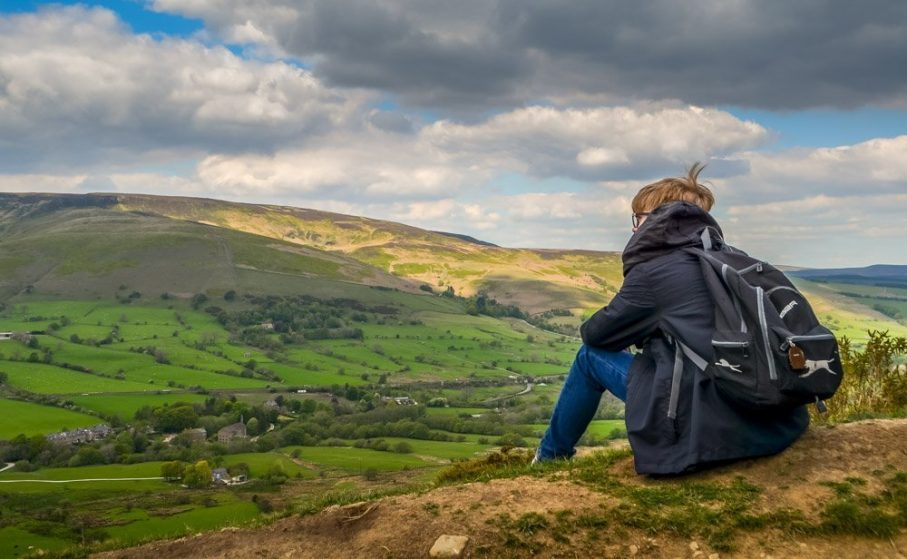 Looking down into Edale Valley