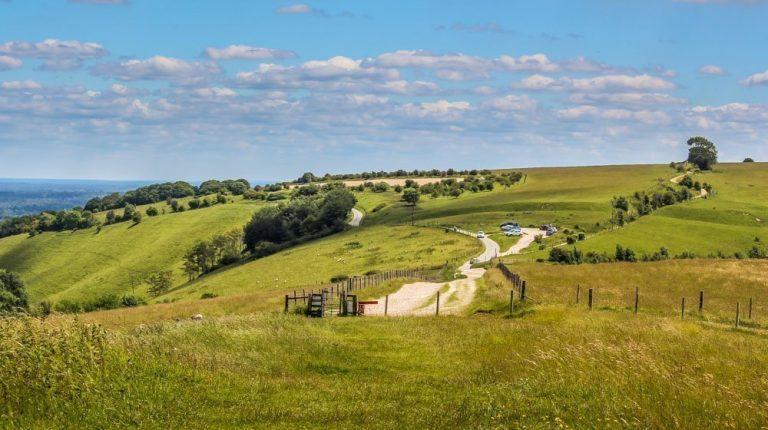 A Circular Walk Around Combe Gibbet, On The Hampshire Border