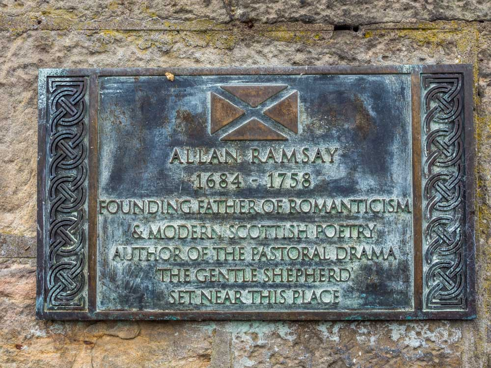 plaque on pub about Allan Ramsay