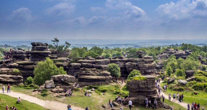 Full view of Brimham Rocks