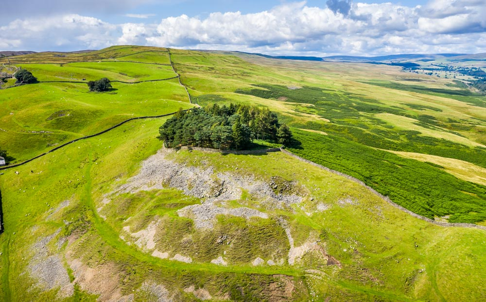 DJI_0416 Kirkcarrion - The Mysterious Barrow Above Middleton-in-Teesdale