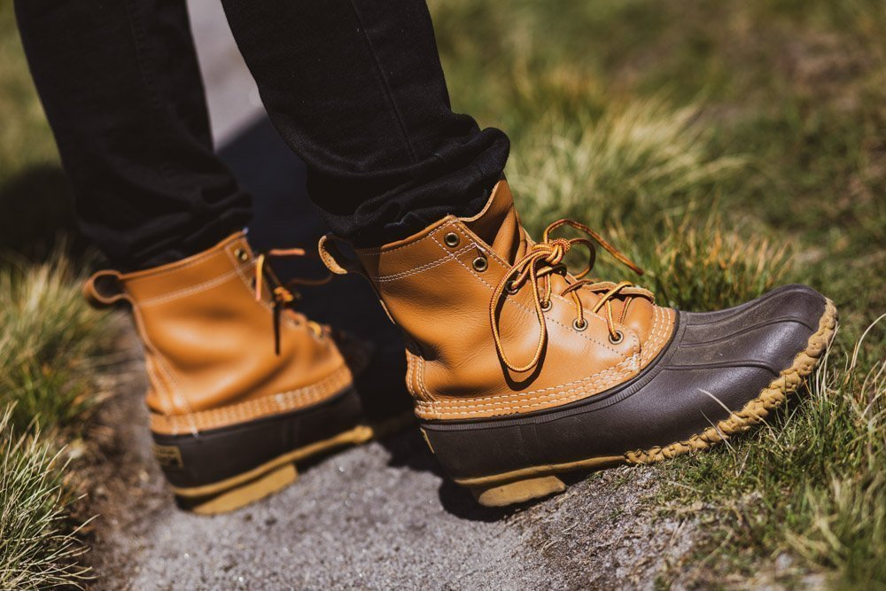 619A1159 Ready For Wet and Muddy Winter Walks - L.L. Bean Boots