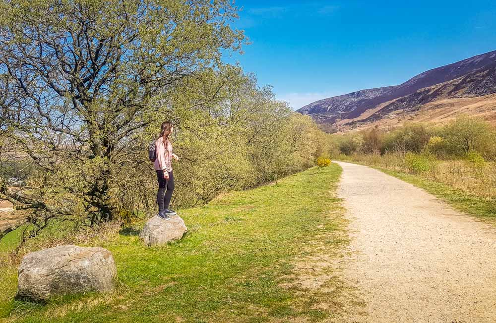 My-daughter-on-theTrans-Pennine-Trail Torside And Woodhead Reservoir Walks – North Derbyshire