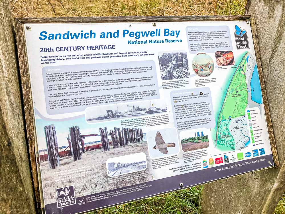 Pegwell Bay National Nature Reserve near Sandwich in Kent