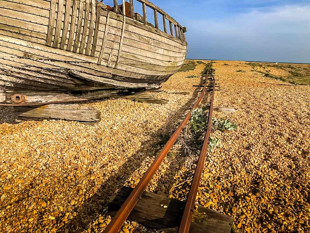 old boat tracks on nature reserve