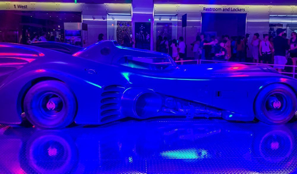 the Batmobile in the main entrance