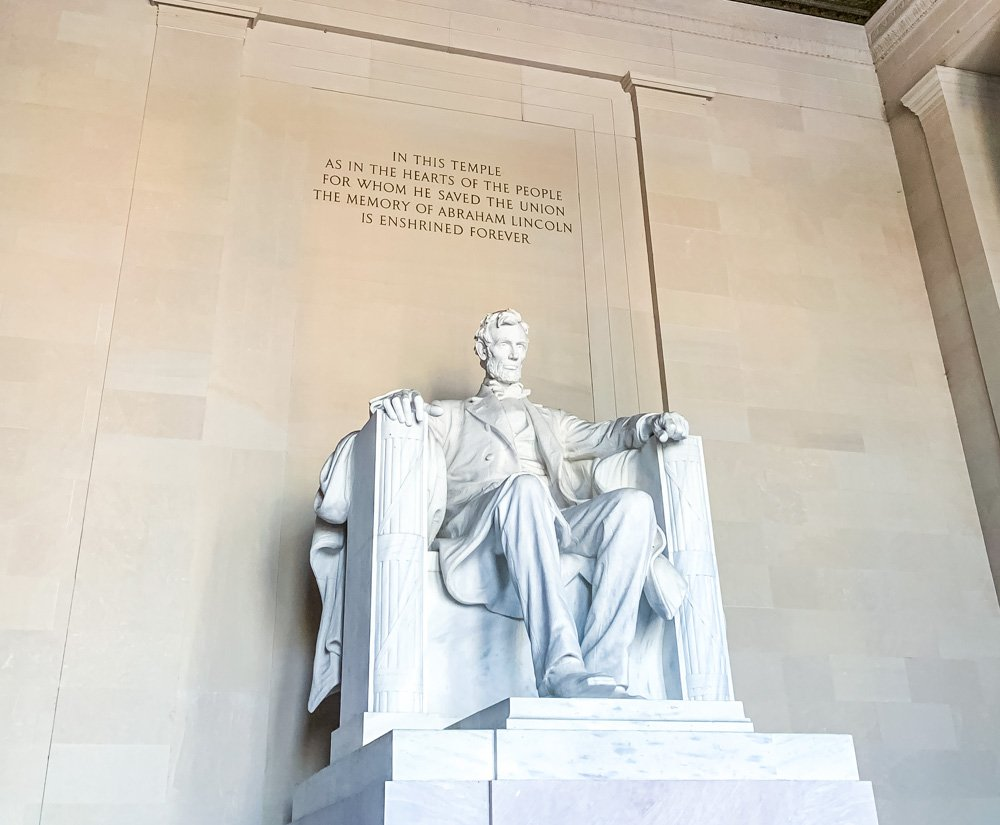 the Lincoln Memorial
