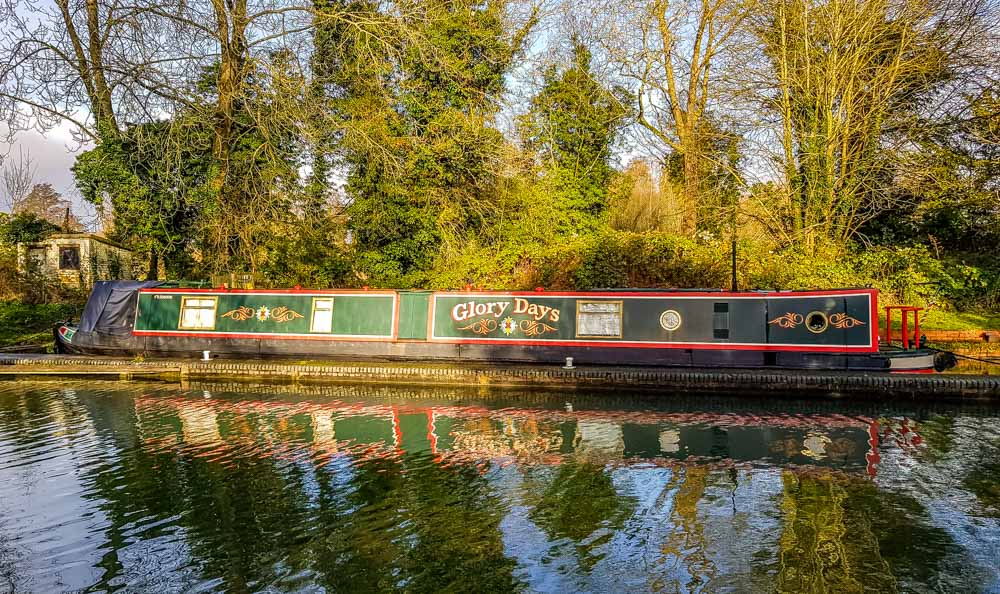 Colourful-narrowboat-moored-up A Hungerford Walk Beside The Kennet & Avon Canal