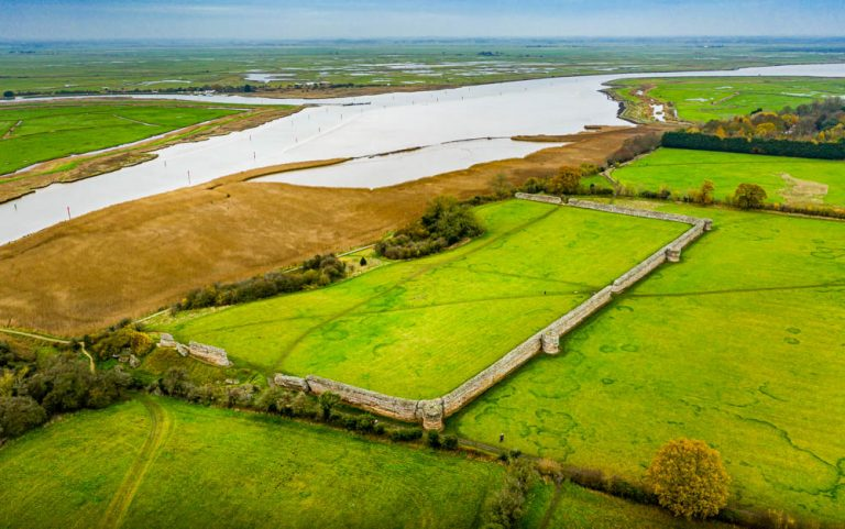 The Roman Saxon Shore Fort of Burgh Castle, Norfolk