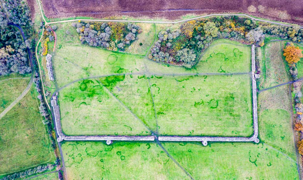 DJI_0588 The Roman Saxon Shore Fort of Burgh Castle, Norfolk