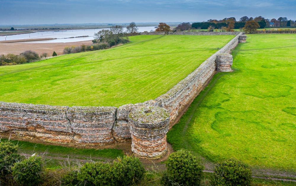 DJI_0590 The Roman Saxon Shore Fort of Burgh Castle, Norfolk