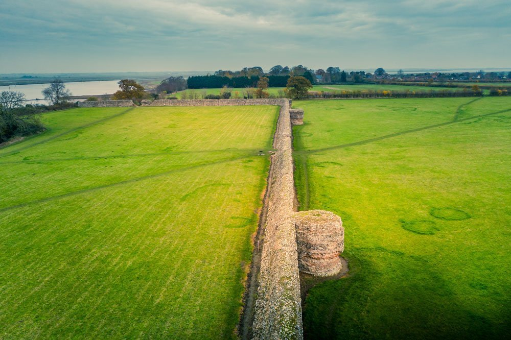 DJI_0597 The Roman Saxon Shore Fort of Burgh Castle, Norfolk