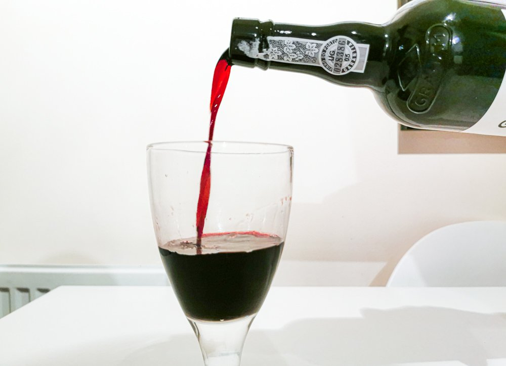pouring the port