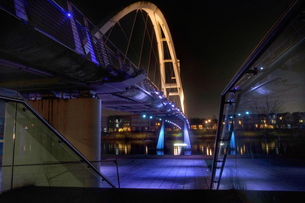 An Evening Visit to Infinity Bridge, Stockton on Tees